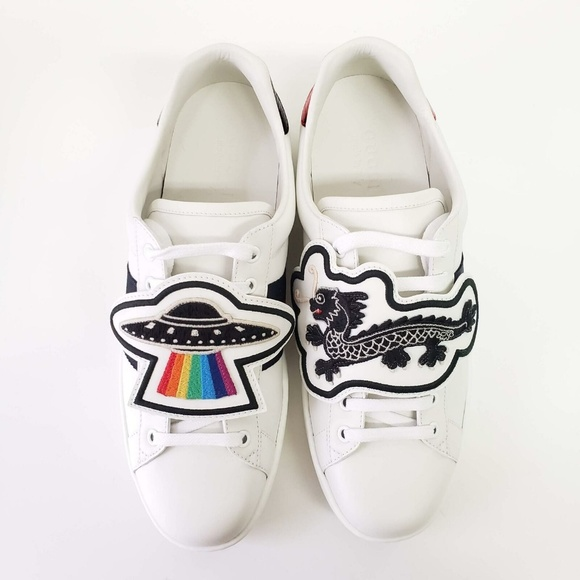 Gucci Ufos And Dragons Patch Sneakers